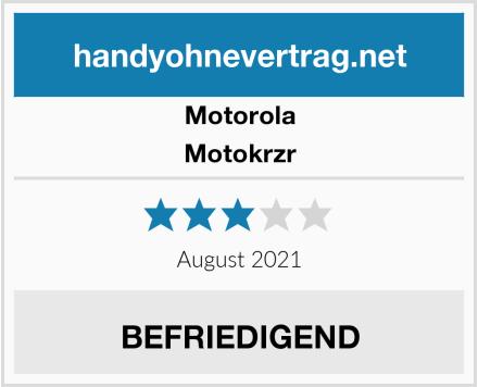 Motorola Motokrzr Test