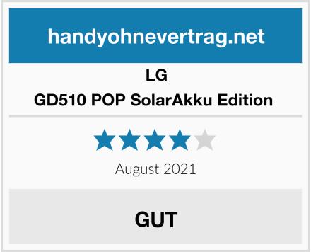 LG GD510 POP SolarAkku Edition  Test