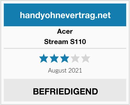 Acer Stream S110 Test