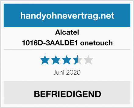 Alcatel 1016D-3AALDE1 onetouch Test