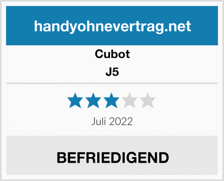 Cubot J5 Test