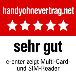 c-enter zeigt Multi-Card- und SIM-Reader