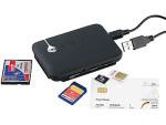 c-enter zeigt Multi-Card- und SIM-Reader mit aktivem USB-2.0-Hub